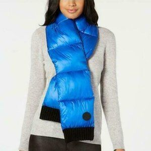 DKNY Quilted Puffer Scarf. Blue. NWT!